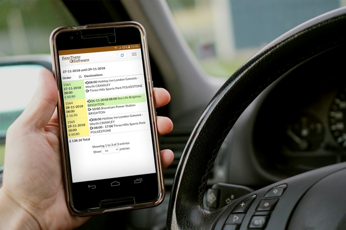 Drivers App - Extensive automation of the transport chain