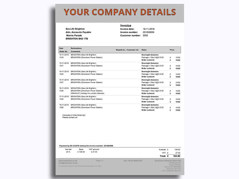 Invoice EasyTrans