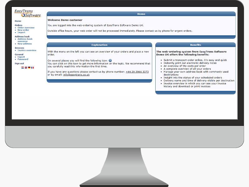 Customer Portal EasyTrans